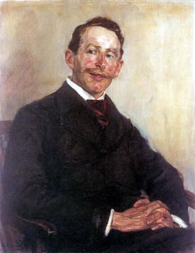 famous painting Portrait of Dr. Max Linde of Max Liebermann