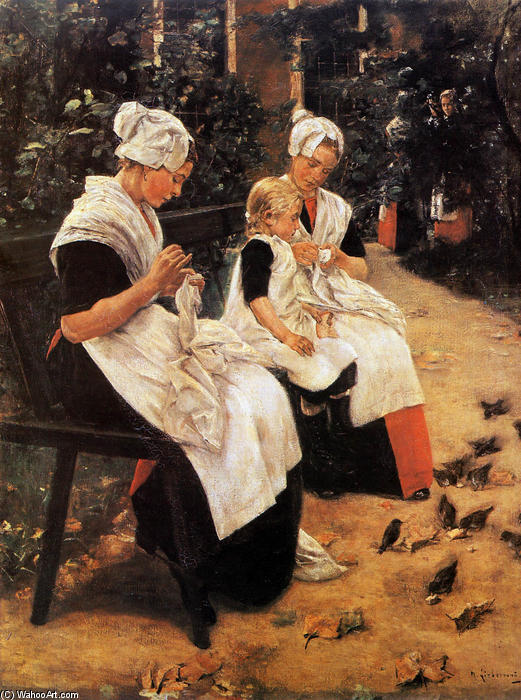 famous painting Amsterdam Orphans in the Garden of Max Liebermann