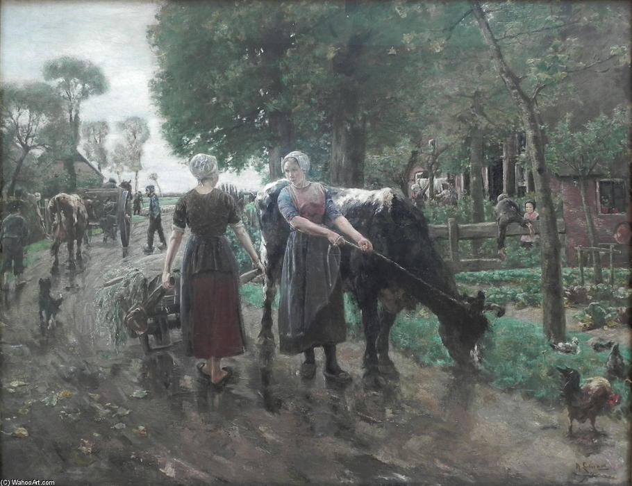 famous painting Road in Dutch Village of Max Liebermann