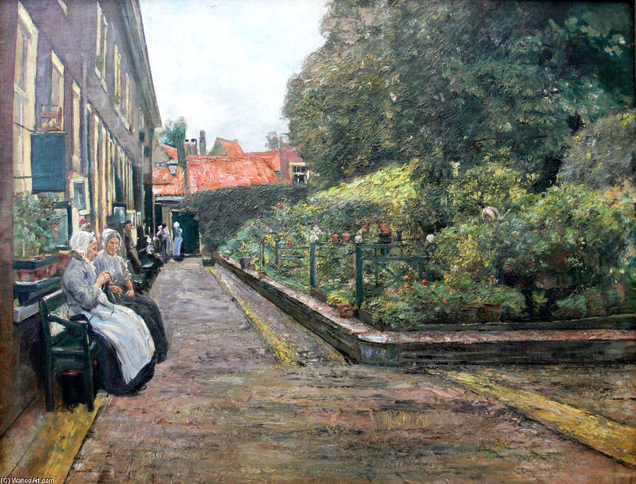 famous painting Stevenstift in Leiden of Max Liebermann