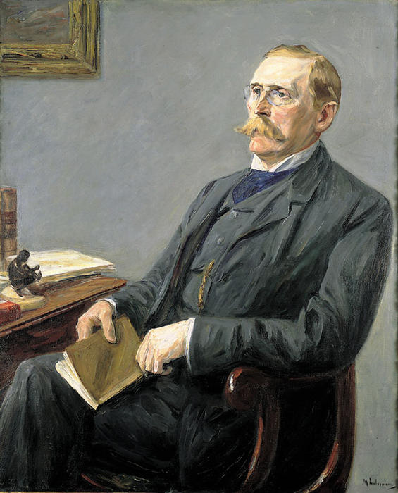 famous painting Portrait of Wilhelm Bode of Max Liebermann