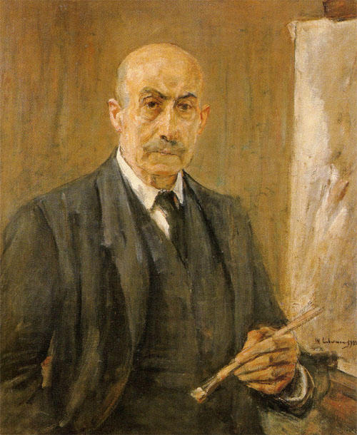 famous painting Self-Portrait with palette of Max Liebermann