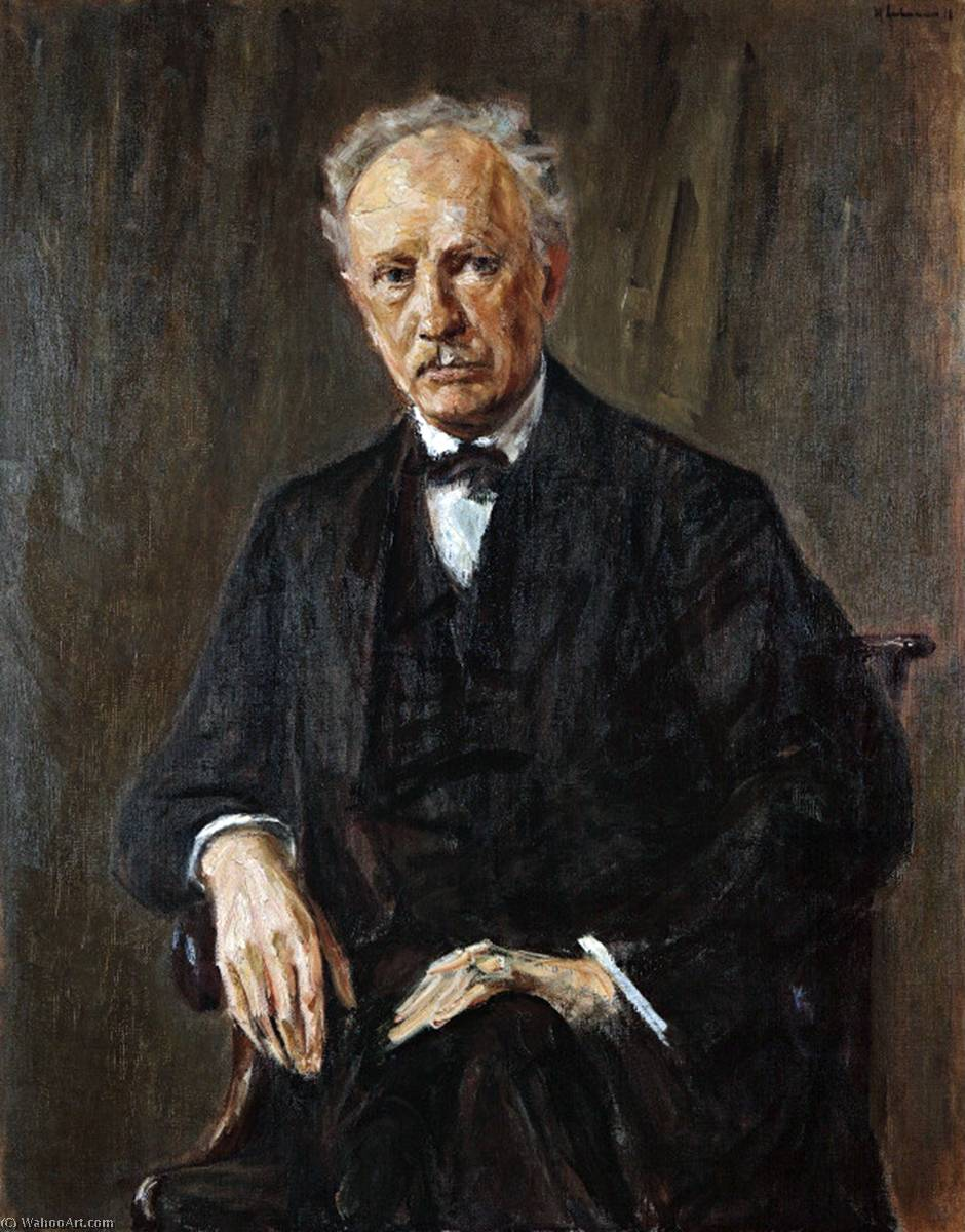 famous painting Portrait of Richard Strauss of Max Liebermann