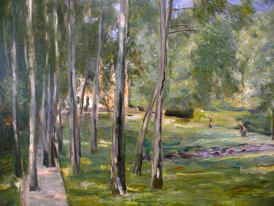 famous painting Birch grow of Max Liebermann