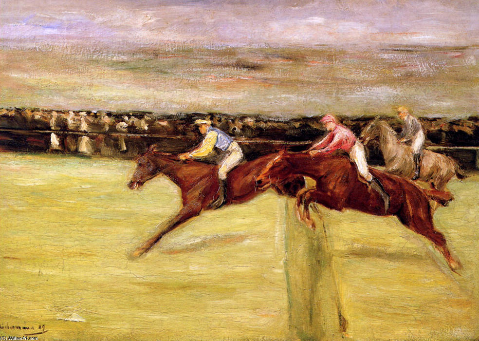 famous painting Horse races of Max Liebermann