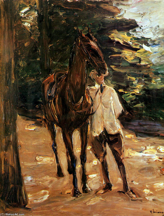 famous painting Man with horse of Max Liebermann