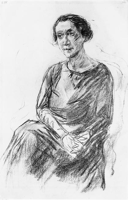 famous painting Portrait of Mrs. Irene Triesch of Max Liebermann