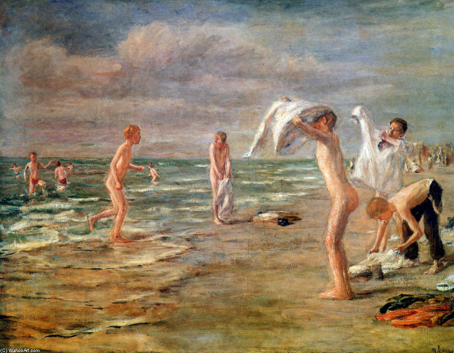 famous painting Swimming boys of Max Liebermann