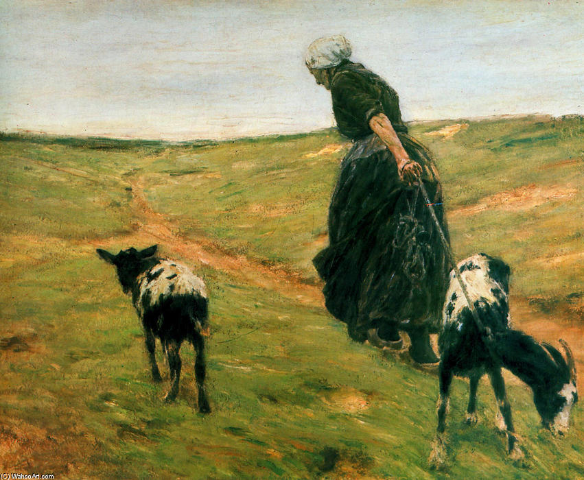 famous painting Woman with goats of Max Liebermann