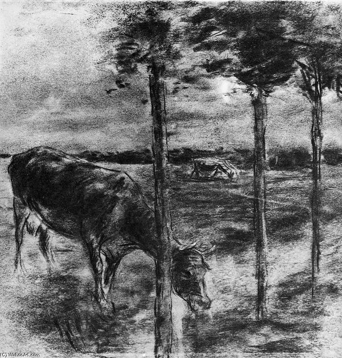 famous painting Drinking cow of Max Liebermann
