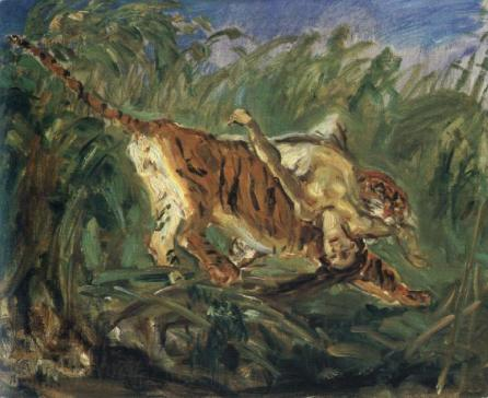 famous painting Tiger in the Jungle of Max Slevogt