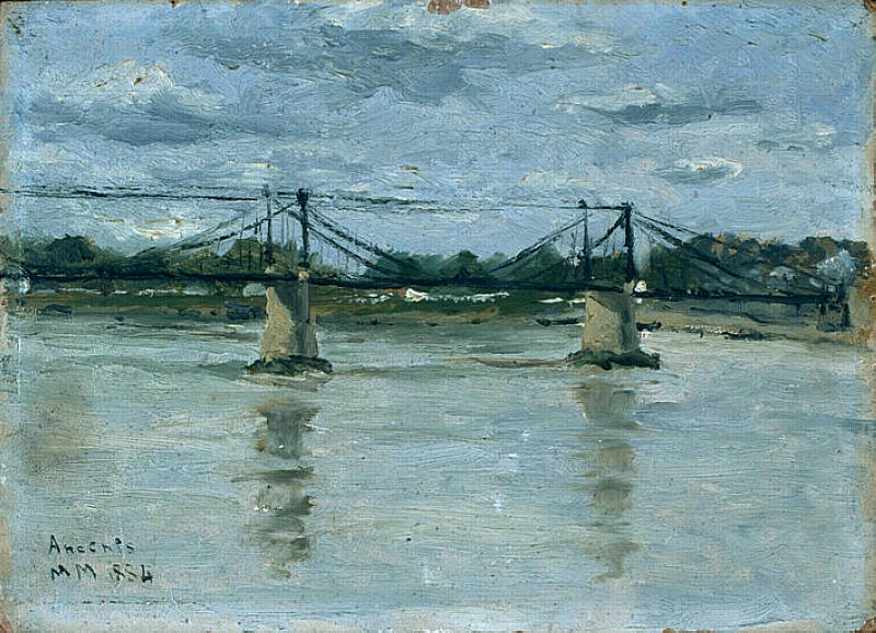 famous painting The old bridge in Ancenis of Maxime Maufra