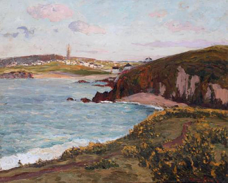 famous painting Landscape near Douarnenez of Maxime Maufra