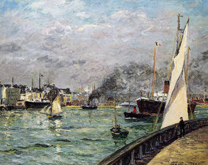 Maxime Emile Louis Maufra - Departure of a Cargo Ship