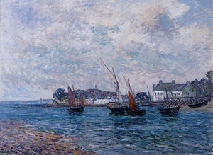 Maxime Emile Louis Maufra - Reentering Port at Douarnenez (Finistere)