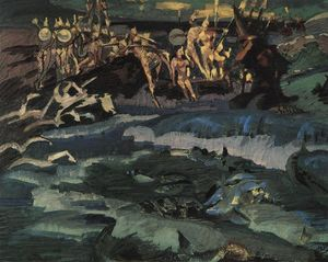 Mikhail Vrubel - Thirty-three knights