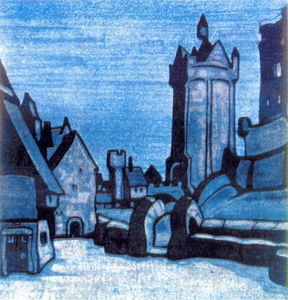 Nicholas Roerich - Street in front of castle