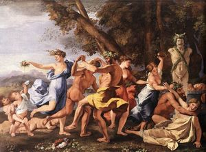 Nicolas Poussin - Bacchanal before a Statue of Pan