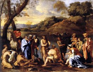 Nicolas Poussin - St. John Baptising the People