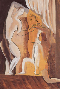 Ossip Zadkine - Three women in an interior