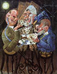 Otto Dix - The Skat Players