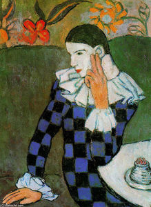 Pablo Picasso - Harlequin leaning