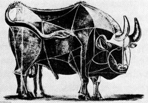 Pablo Picasso - Bull (plate IV)