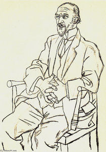 Pablo Picasso - Portrait of Erik Satie