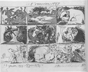 Pablo Picasso - Dream and Lie of Franco