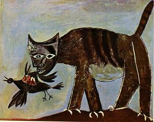 Pablo Picasso - Cat catching a bird