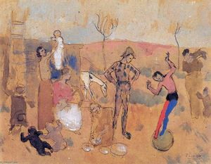 Pablo Picasso - Family of jugglers
