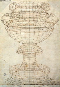 Paolo Uccello - Vase in perspective