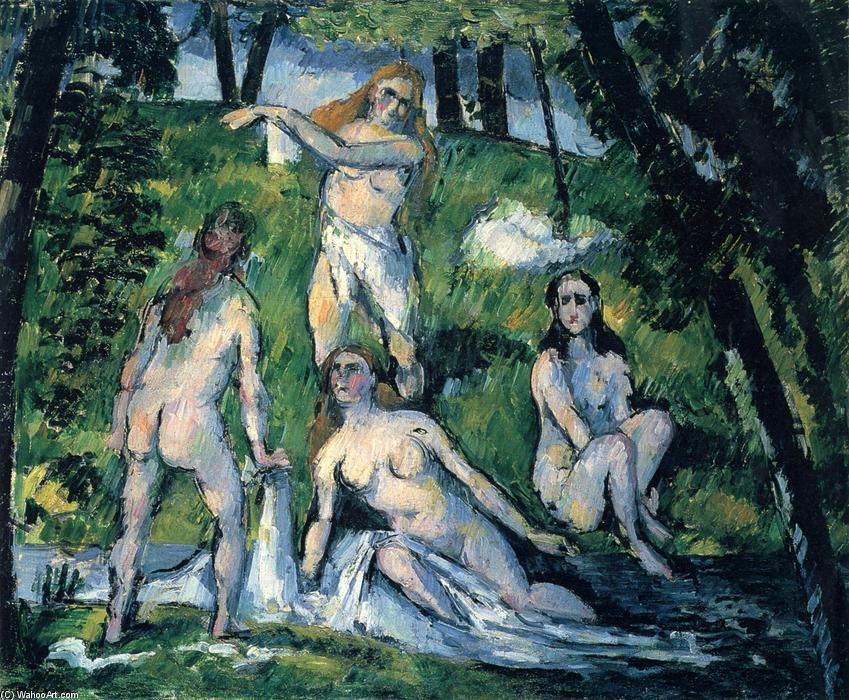 famous painting Four Bathers of Paul Cezanne