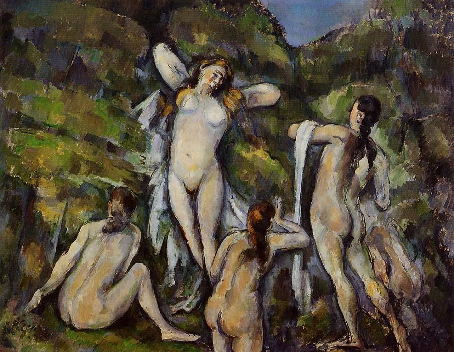 Order Museum Quality Copies Impressionism | Four Bathers by Paul Cezanne | TopImpressionists.com