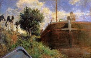 Paul Gauguin - Blue Barge