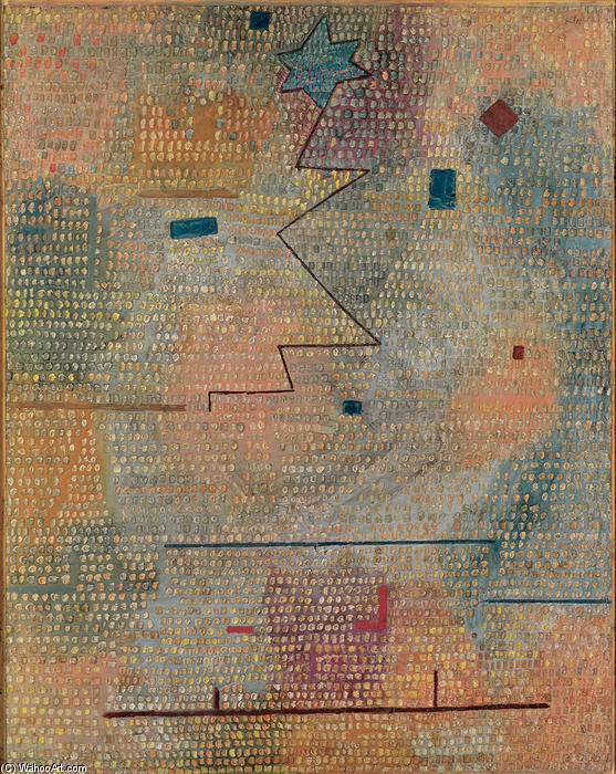 famous painting Rising Star of Paul Klee