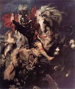 Peter Paul Rubens - St. George and a Dragon