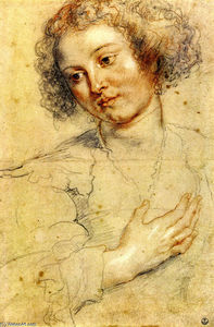 Peter Paul Rubens - Head and Right Hand of a Woman