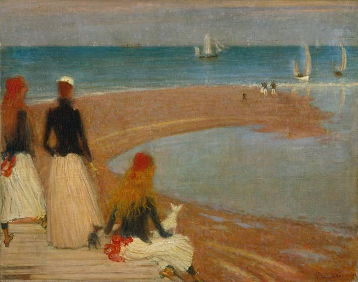 famous painting The Beach at Walberswick of Philip Wilson Steer