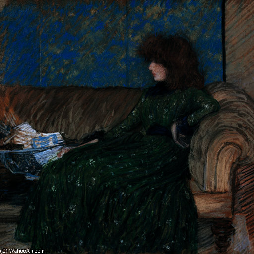 famous painting The Sprigged Frock of Philip Wilson Steer