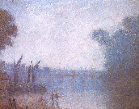 famous painting A Classic Landscape, Richmond of Philip Wilson Steer