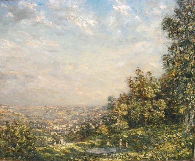 famous painting The Golden Valley, Stroud of Philip Wilson Steer