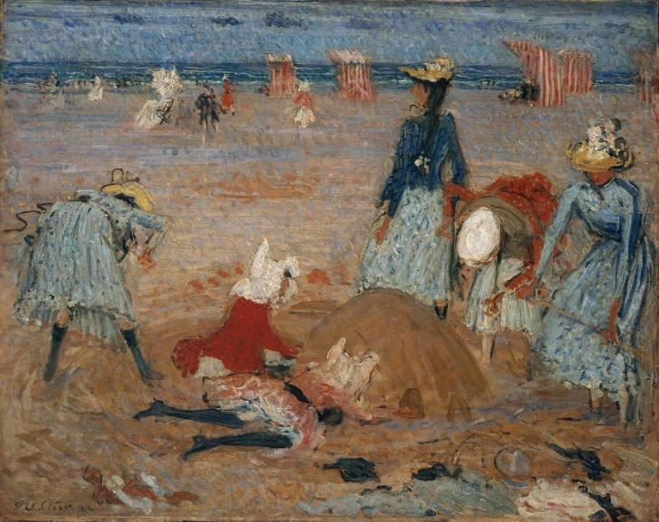 famous painting Boulogne Sands of Philip Wilson Steer