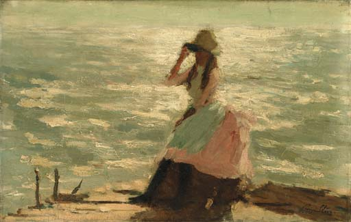 famous painting Girl Seated on a Pier of Philip Wilson Steer