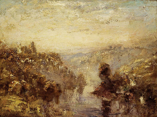 famous painting Richmond, Yorkshire of Philip Wilson Steer