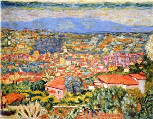 Pierre Bonnard - View of Le Cannet, Roofs