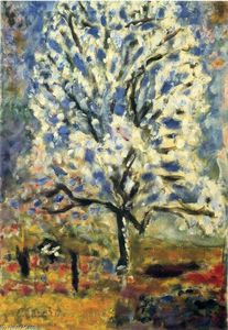 Pierre Bonnard - The almond tree in blossom