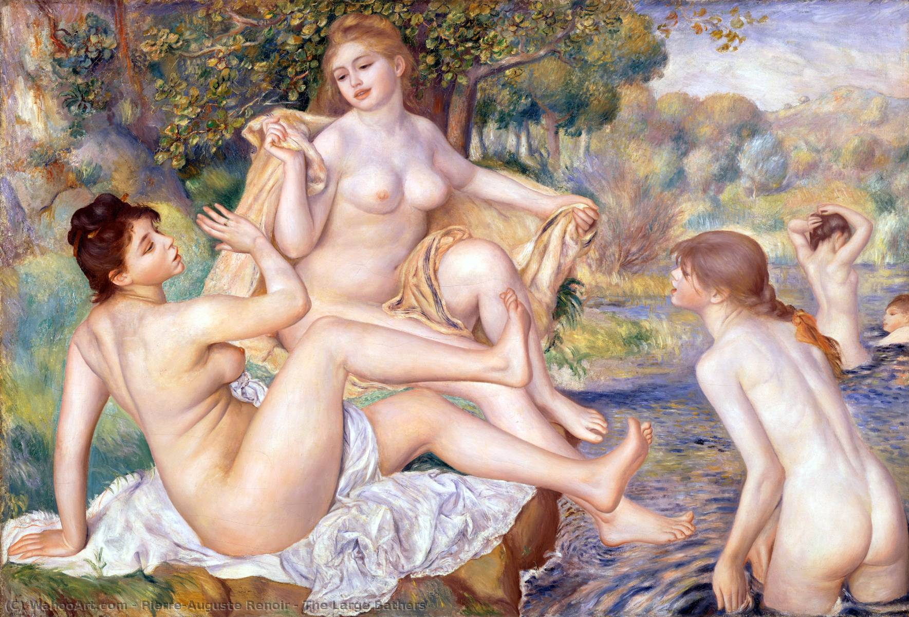 famous painting The Large Bathers of Pierre-Auguste Renoir