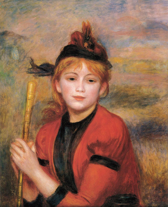 famous painting The Rambler of Pierre-Auguste Renoir