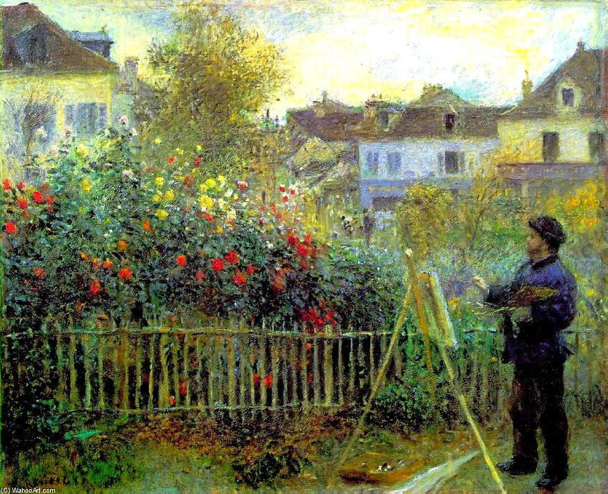 famous painting Monet painting in his garden at Argenteuil of Pierre-Auguste Renoir
